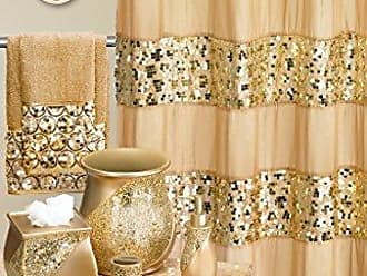 Popular Bath 839166 Sinatra Shower Curtain, Champagne Gold