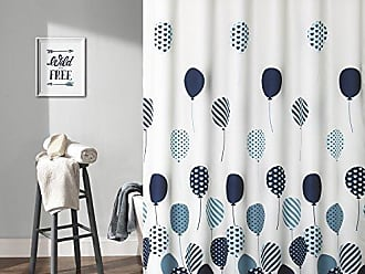 Triangle Home Fashions Lush Decor Flying Balloon Shower Curtain 72 X