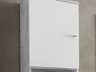 Wilmes 85006 57 0 75 Badmöbel, Badezimmerhängeschrank, Hängeschrank Holz,  Beton/Weiß