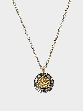 5 OCTOBRE Tiger Gold-Plated Silver Necklace in Burnt Grey Silver 4zy2zMR