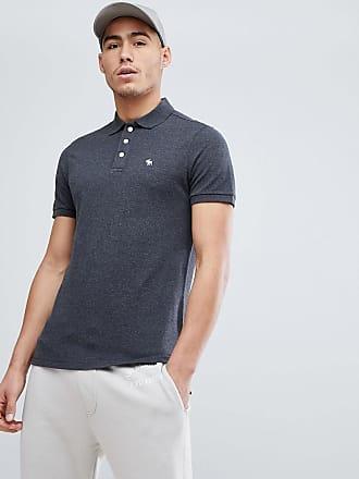 Abercrombie & Fitch - Polo à logo emblématique effet color block - Bleu/blanc/bleu marine - Bleu 91F6Sd3ege