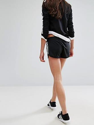 Schwarze Shorts mit drei Streifen - Schwarz adidas Originals