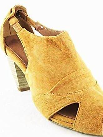 High Heels Schuhe Sandaletten Sandalen Echtleder Cognac 2041, Schuhgröße:36 Andrea Conti
