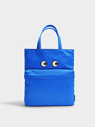 Anya Hindmarch Sac Cabas Eyes en Nylon Bleu Electrique h2oygWVJuS