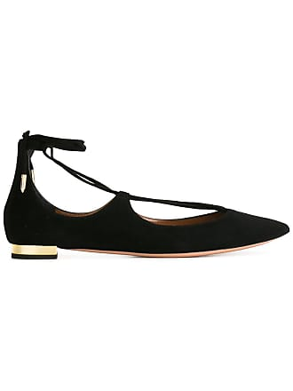 Ballet Flats Ballerina Shoes for Women On Sale, Whisky, Leather, 2017, 3.5 Aquazzura