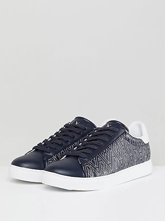 Ax Logo Trainers In Navy - 22633 Armani 7KlhZN