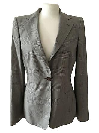 gebraucht - Jacke - DE 32 - Damen - Schwarz / Weiß - Baumwolle Armani