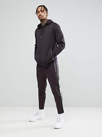 PLUS Tracksuit Set Tapered Jogger/ Hoodie Washed Black SAVE - Bal Asos Free Shipping High Quality Big Sale For Sale wSS6V9