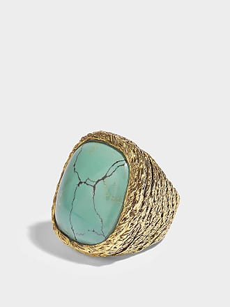 Miki Turquoise Ring in Turquoise 18K Gold-Plated Brass Aur GSNI8LB9F