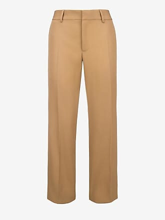 Flared Trousers Orange, Womens cotton drill trousers in dark lobster Bally