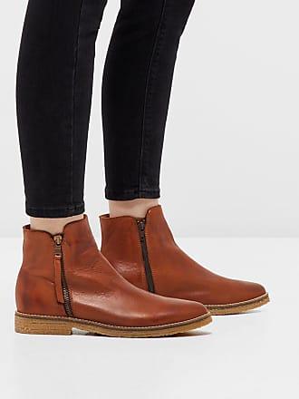 Bianco Doppel-Reißverschluss- Stiefel, braun, Light Brown