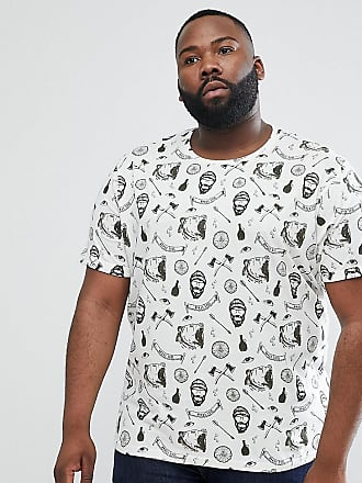 Clearance Geniue Stockist Orange 100% Original PLUS All Over Beard Print T-Shirt - Navy Brave Soul Cheap Sale 2018 IA3Nmucr