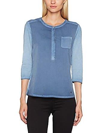 Clarissa Damenshirt: Langarmshirt aus Feinem Crepé-Gewebe und Jersey in Cleaner Optik Brax