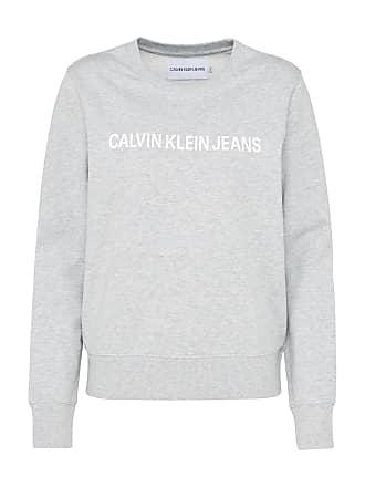 Sweatshirt hellgrau / weiß Calvin Klein Jeans