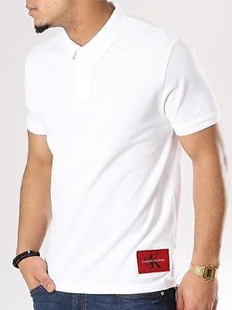 Calvin Klein - Polo Manches Courtes Monogram Logo 7770 Blanc eTS6Sr1E0a