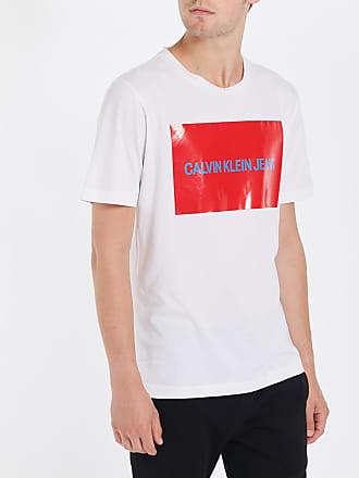 Acheter Pas Cher Achats En Ligne Prix Pas Cher Pas Cher Tee Shirt Institutional Logo Stretch 7860 BlancCalvin Klein iX9xGuosYh