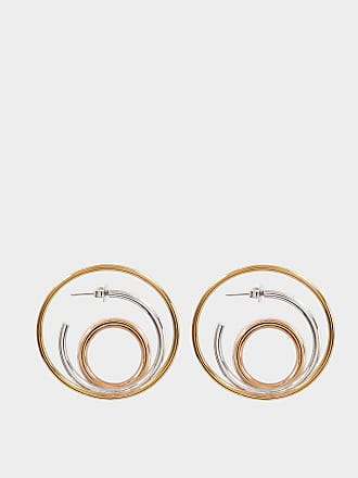 Charlotte Chesnais Ricoché L Earrings in Yellow Vermeil and Silver 76VmECi