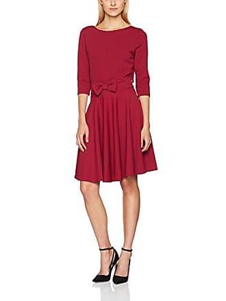Damen Kleid Vestido Rojo Vuelo Lazo Cintura Cuplé