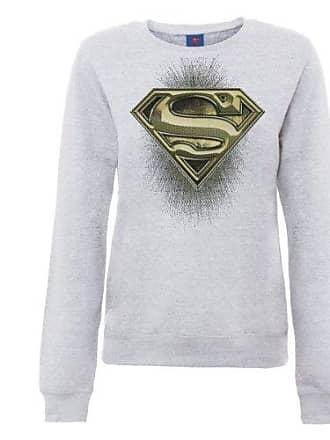 DC Comic Damen Comics Official Superman Engraving Logo Womens Sweatshirt DC