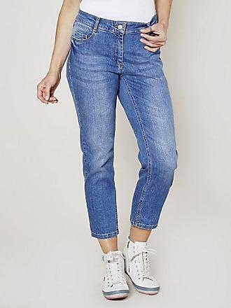 Deerberg Damen Stretch-3/4-Jeans Elva, blau Auch in Übergrößen: