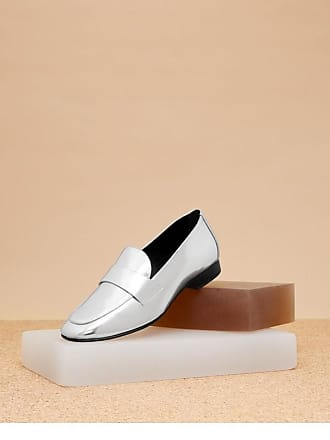 Diane Von Furstenberg Woman Metallic Leather Loafers Silver Size 6 Diane Von F Sale Collections Sale Order Cheap Top Quality ihaoOIYKj8