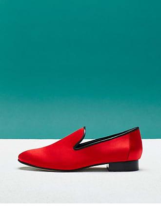 Diane Von Furstenberg Woman Leiden Satin Slippers Red Size 8.5 Diane Von F ZdUpuU3N