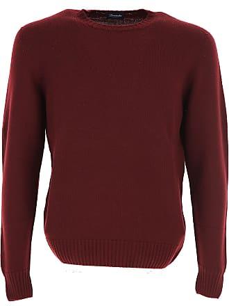 Sweater for Men Jumper On Sale, Bordeaux, Lambswool, 2017, L XL Drumohr