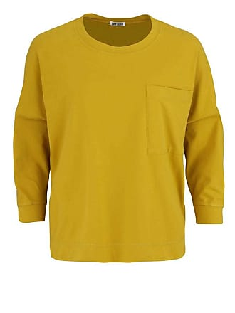 3/4 Arm Shirt ORIAMA Rundhals Oversize Brusttasche senfgelb Drykorn