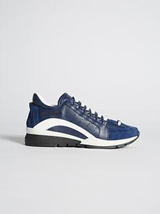 Sneakers for Men On Sale in Outlet, Blue, suede, 2017, 7 Dsquared2