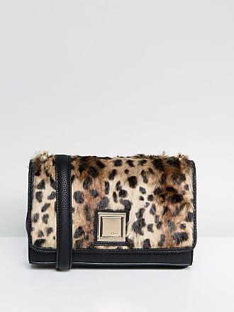 Tasche aus Kunstfell mit Kettenriemen - Schwarz Dune London sjZu1