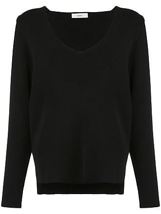 panelled knit blouse - Schwarz Egrey
