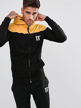 Sudadera con capucha y cremallera en negro de 11 Degrees Eleven Degrees eQYueet