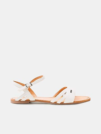 Esprit Flache Sandale in Leder-Optik für Damen, Größe 38, White