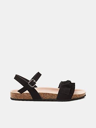 Esprit Flache Sandale mit Fransen-Dekor für Damen, Größe 36, Navy