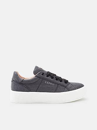 Esprit Fein schimmernder Sneaker zum Schnüren für Damen, Größe 42, Black
