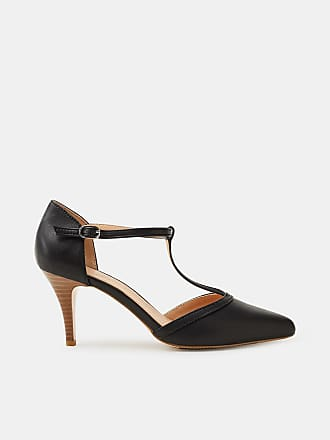 Esprit Pumps mit Kitten Heel, in Leder-Optik für Damen, Größe 42, Black