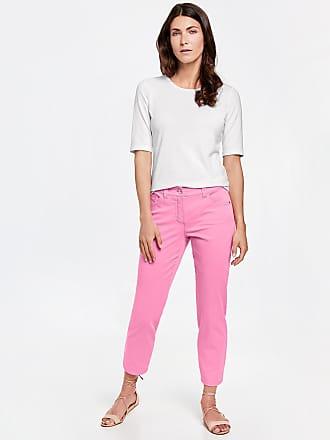 7/8-length trousers with a hem slit ecru-beige female Gerry Weber WQeYw