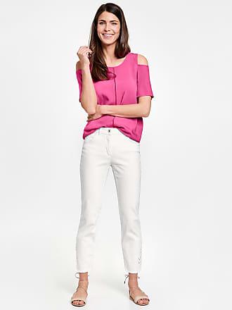 7/8-length trousers with a hem slit ecru-beige female Gerry Weber dSvjGb