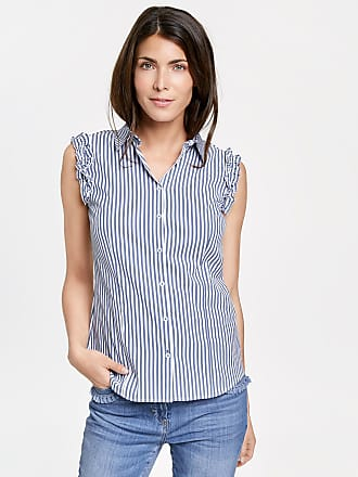 Shirt in pure linen blue female Gerry Weber Latest Collections Outlet Best Seller QFTjayhI