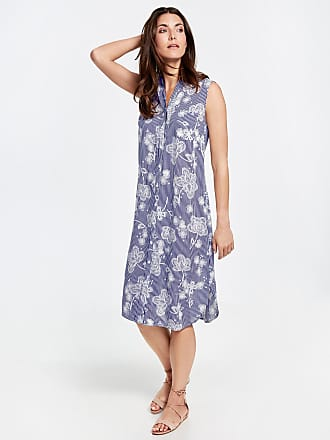 Sheath dress with a jacquard pattern blue female Gerry Weber ByhGuN