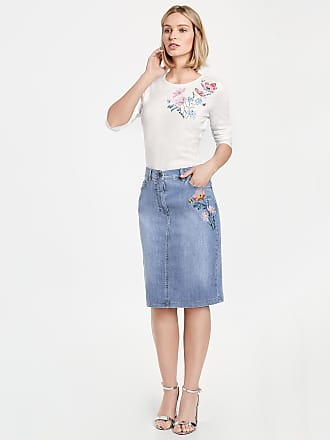 Skirt with a striped pattern blue female Gerry Weber In China Low Price Fee Shipping Sale Online 7UB4Guj