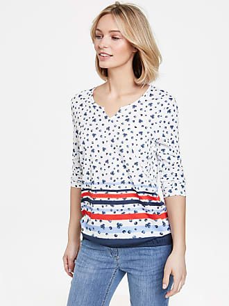 Mixed pattern top with 3/4-length sleeves purple-pink female Gerry Weber Outlet Free Shipping Authentic Order Sale Online 14cdbm2Pd