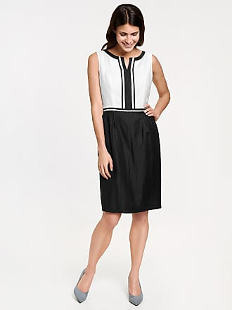Linen blend sheath dress black female Gerry Weber Manchester Great Sale Sale Online Enjoy Sale Online N1sMuX0
