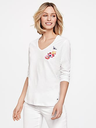 Best Deals Footlocker Cheap Price T-shirt with a foil print white female Gerry Weber Fashion Style Sale Online Clearance Websites Cheap Geniue Stockist CLMbQEsHFy