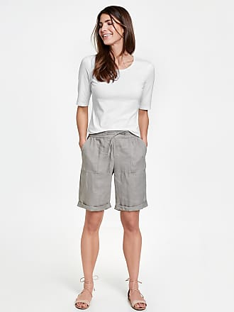 Shorts with a tie-around belt green female Gerry Weber For Cheap Online Buy Cheap Sneakernews Cheapest J2vxNQAg