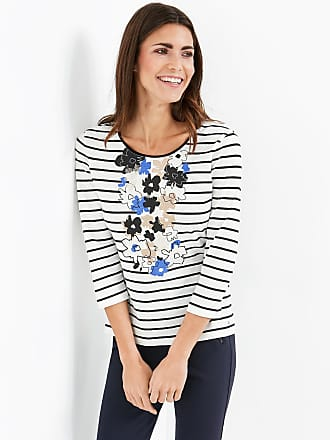 Top with rhinestones and 3/4-length sleeves blue female Gerry Weber Free Shipping Websites Cheapest Sale Online Outlet Get To Buy j72ck