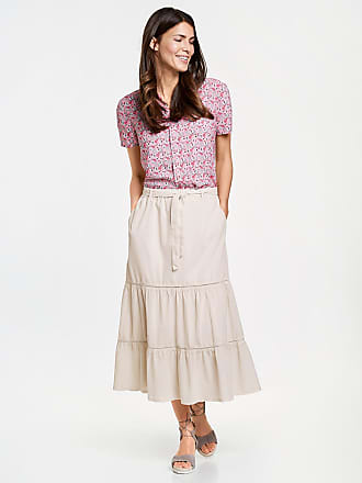 In China Sale Online Tiered skirt ecru-beige female Gerry Weber Clearance Outlet 6bOdl
