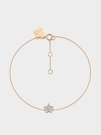 Tiny Diamond Heart Bracelet in 18K Rose Gold and Diamonds Ginette NY wKCoh