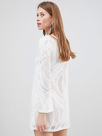 Swing Dress - Cream cut out jersey Glamorous Sale Good Selling hcQ9r