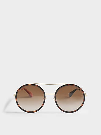 Gucci Injected Sonnenbrille aus goldenem Metall dEHB4